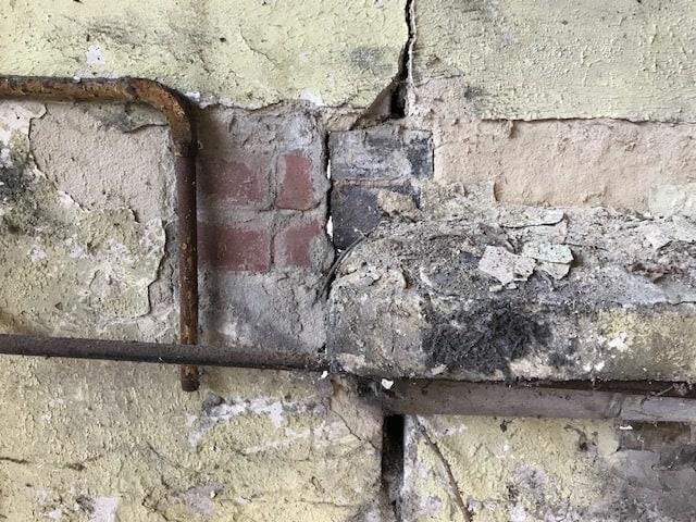 Arundel Street Derby Bat Survey - wall detail