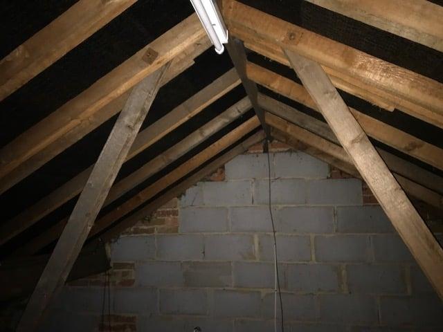 Bat Survey - Siddals Lane Allestry - inside the loft
