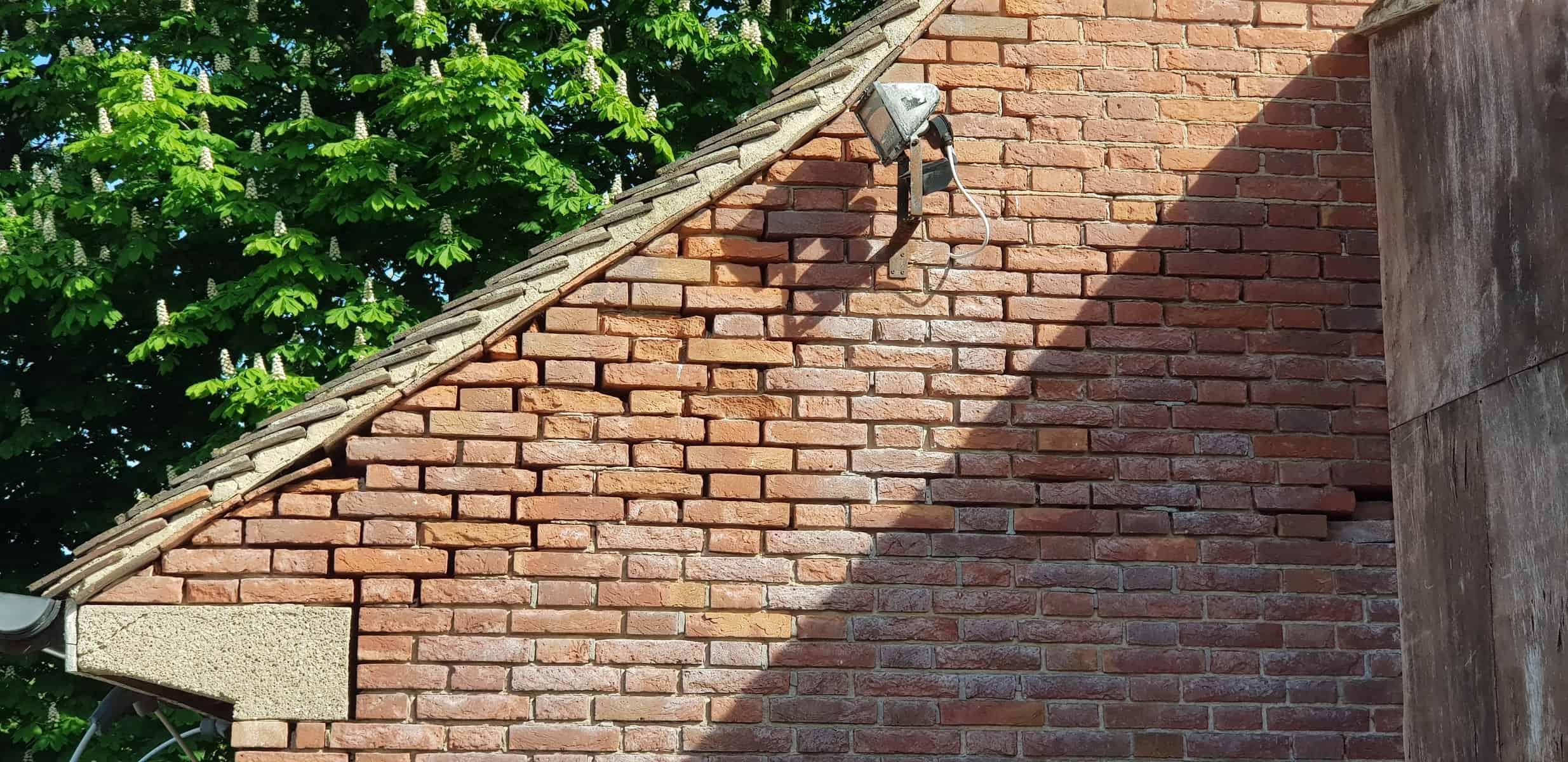Derby Bat Survey - Missing mortar in wall